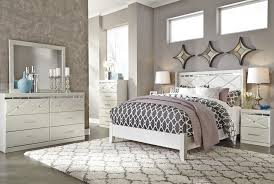 dreamur 4 pc bedroom dresser mirror u0026 queen panel bed b351 31