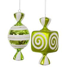 lime green large ornaments 8 inch 2 box