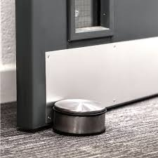 Furniture Rubber Floor Protectors by Round Chrome Metal Door Stopper Stop Rubber Floor Protector Heavy