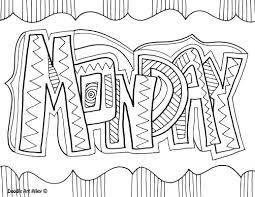 days of the week coloring pages wallpaper download