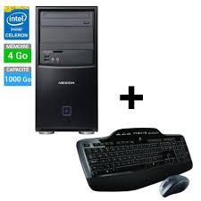 ensemble ordinateur de bureau pc de bureau medion b315 ensemble clavier souris logitech mk710