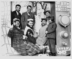 photograph of michael zadoorian and friends on a tv float