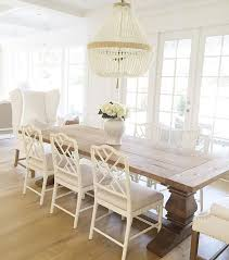 Dining Room Decor Ideas Warm White Color Palette With Wood Table