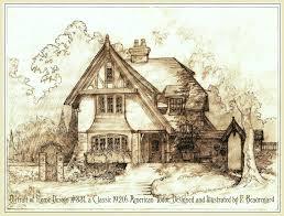 delighful english tudor cottage house plans storybook plan for design