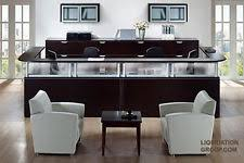Gray Reception Desk Reception Desk Ebay