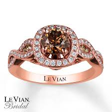 levian engagement rings le vian engagement ring 1 1 3 cttw diamonds 14k strawberry gold