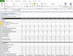 Excel Profit And Loss Template Restaurant Profit And Loss Statement Template Excel Excel Tmp