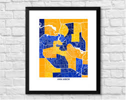 Map Of Ann Arbor Michigan by Ann Arbor Michigan Art Map Print Art Map Print Of Ann Arbor