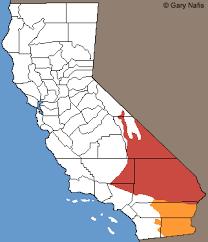 california map desert region california snakes range maps