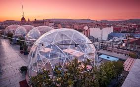 pictures of bar enjoy a drink in a rooftop igloo at this bar in budapest travel