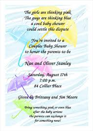 baby shower wording free coed shower invitation wording for 99 party invitation