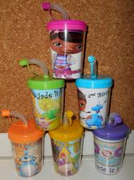 favor cups doc mcstuffins do it yourself party favor cups personalized name
