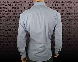 stone rose men designer dress shirt blue gingham hrw 51