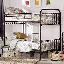 Style Bedroom Furniture by Amazon Com Kid U0027s Bunk Bed Frame Wrought Iron Cast Metal Vintage