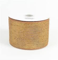 deco mesh ribbon brown metallic deco mesh ribbon