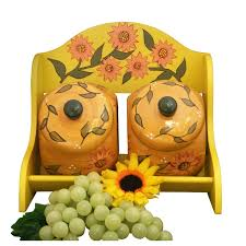 sunflower canisters for kitchen 16 best sunflower decorations images on sunflower