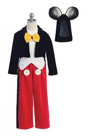 Mickey Mouse Toddler Costume Bk 1217 Boys Dress Up Costume Style 1217 Mickey Mouse Inspired
