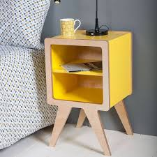 Yellow Side Table Uk Yellow Bedside Table Bonners Furniture
