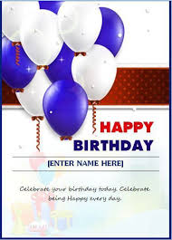 birthday wish template birthday greeting card template free