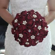 shop red rose bridal bouquet on wanelo