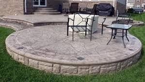 deck designs stamped concrete patio patterns colors biondo cement