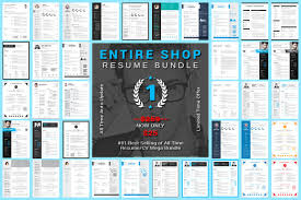 Best Resume Of All Time by Entire Shop Resume Cv Mega Bundle Resume Templates Creative Market