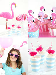 flamingo pool party ideas u0026 printables party ideas party
