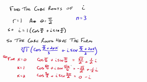 powers and roots of complex numbers