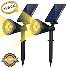 solar powered outdoor light bulbs solar led lights 2 pack 3rd generation siensync tm 2 in 1