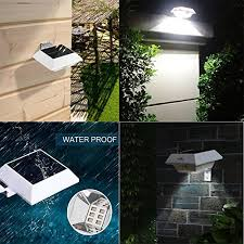 t sun solar gutter lights 6 led solar powered waterproof security