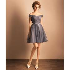 homecoming ribbon a line princess homecoming dresses grey sleeveless with