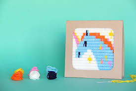 stitching for beginners unicorn tapestry kit needlepoint kit