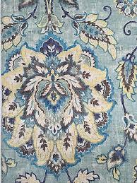 Cynthia Rowley Drapery New Cynthia Rowley Floral 2 Linen Curtain Window Panels Blue