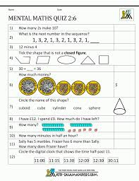 free math worksheets and printouts mental maths for class 2