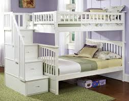 How To Build A Loft Bed With Storage Stairs by Awesome Bunk Bed Storage Stairs And Loft Bed With Storage White