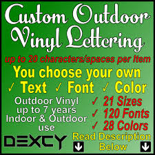 buy hand crafted custom vinyl lettering decal sticker outdoor