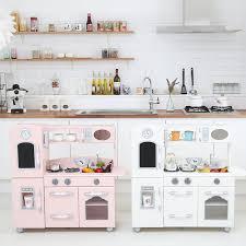 kids kitchen furniture amazon com teamson kids retro wooden play kitchen with
