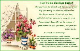 blessing for the home new home blessings basket rice bread blessings and poem