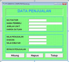 membuat database penjualan xp visual basic 6 membuat program data penjualan latihan1