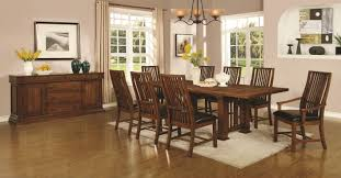 Mission Style Living Room Set Brown Wood Dining Table A Sofa Furniture Outlet Los Angeles Ca