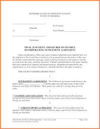 Sample Roommate Contract Divorce Settlement Agreement Template Template Design