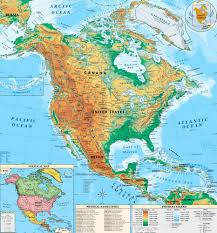 7 Continents Map North America Physical Map Countries