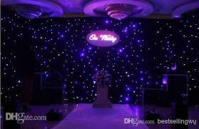 wedding backdrop led 3mx6m blue white color led curtain wedding stage backdrop
