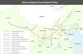 Blank China Map by History Of China Great Wall In Qin Han Ming Dynasties