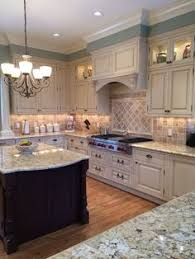 Kitchen Granite Design Traditional Kitchen With Breakfast Bar Snowfall Granite