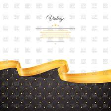 black and gold ribbon black rhombic pattern and gold ribbon on white backdrop with place