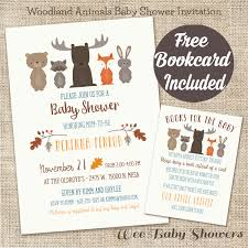 woodland baby shower invitations woodland animal baby shower invitation