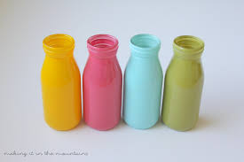 glass milk bottle vase bright u0026 cheery spring milk bottle vases making it in the mountains