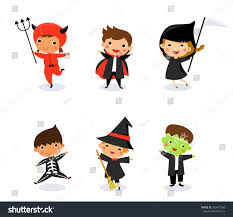happy halloween cute pictures happy halloween cute kids wearing halloween stock vector 502497280
