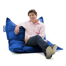 amazon com big joe original bean bag chair sapphire kitchen